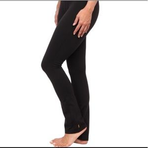 Lucy Fold Over Style Black Yoga Pants Small Short